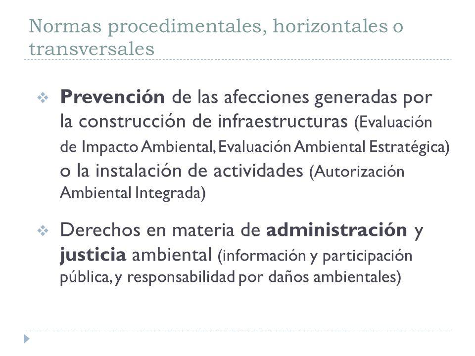 1) Evaluación de Impacto Ambiental (EIA) De proyectos de obras, instalaciones y actividades Tanto públicos como privados Regulación: R.D.-Leg.