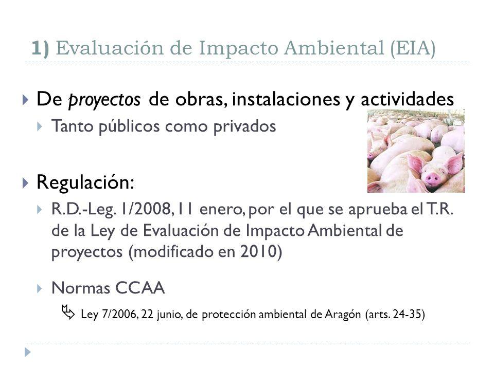 Ámbito de aplicación (2) Si se prevé que tendrán efectos sobre el medio ambiente, también: Los planes y programas que establezcan el uso de zonas de reducido ámbito territorial.