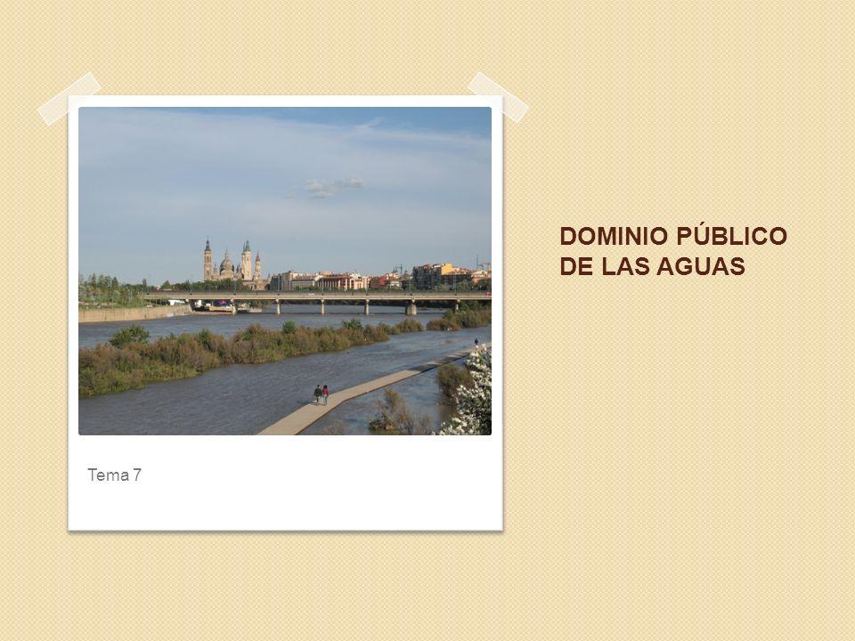 DOMINIO PÚBLICO DE LAS AGUAS Tema 7