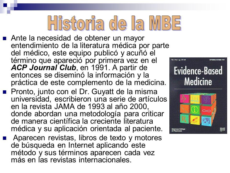 Ante la necesidad de obtener un mayor entendimiento de la literatura médica por parte del médico, este equipo publicó y acuñó el término que apareció