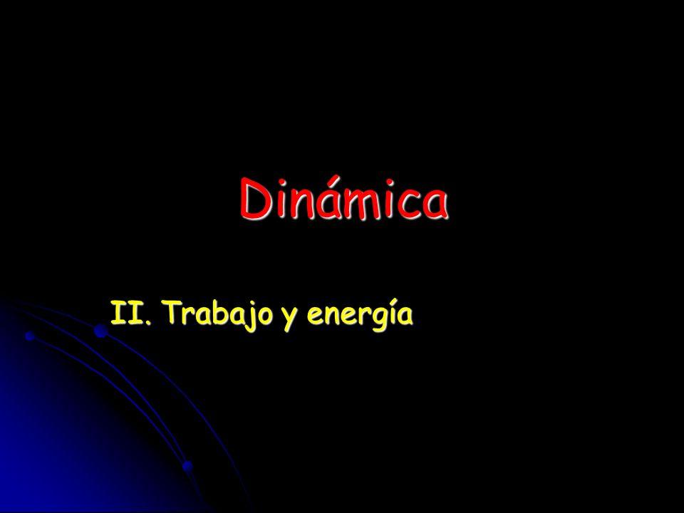 Dinámica II. Trabajo y energía