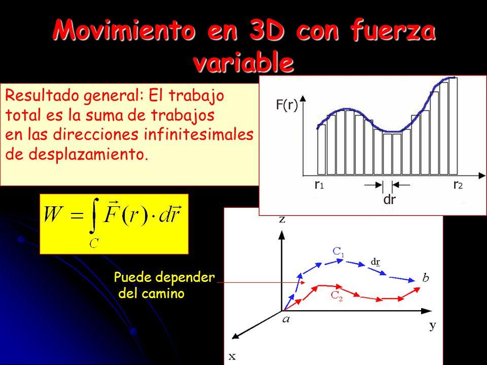 Trabajo y Energía Cinética EL trabajo realizado por todas las fuerzas se puede expresar como la variación de energía cinética