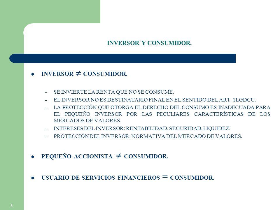 3 INVERSOR Y CONSUMIDOR. INVERSOR CONSUMIDOR. – SE INVIERTE LA RENTA QUE NO SE CONSUME.