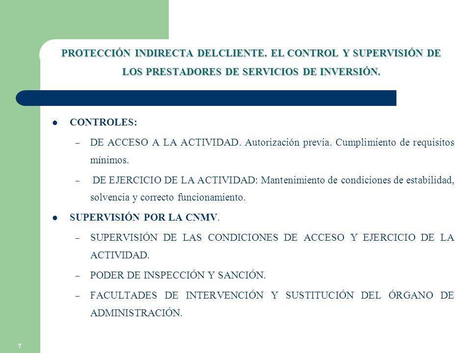7 PROTECCIÓN INDIRECTA DELCLIENTE.