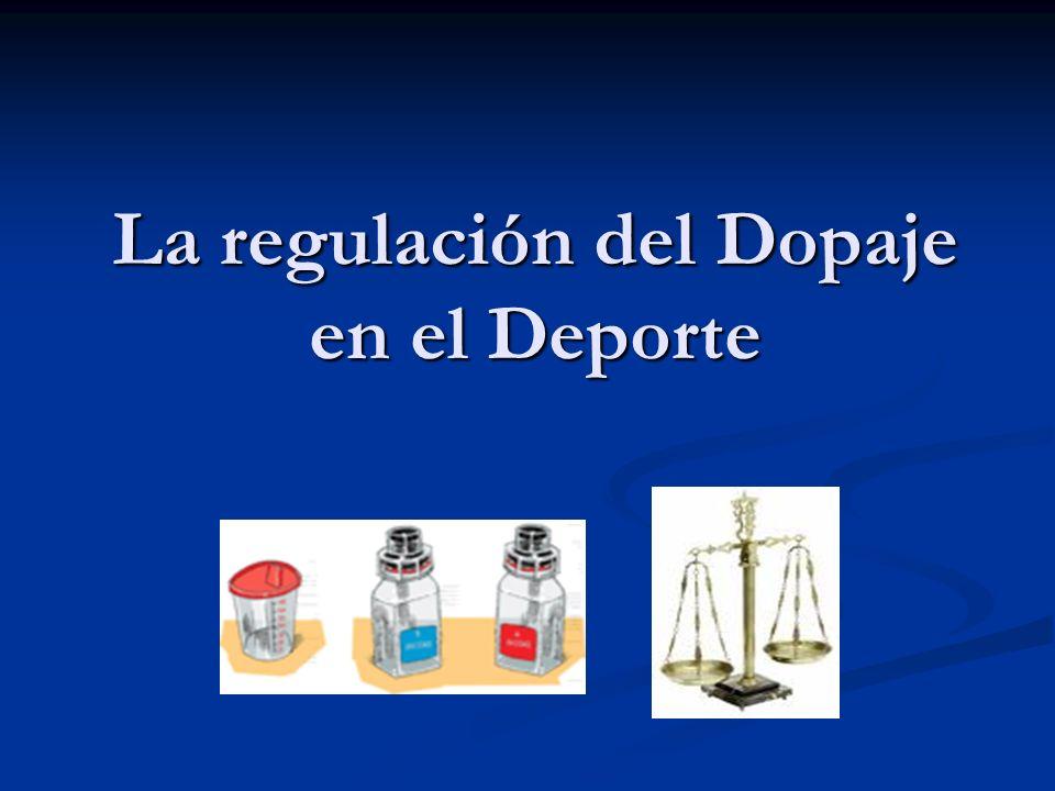 La regulación del Dopaje en el Deporte