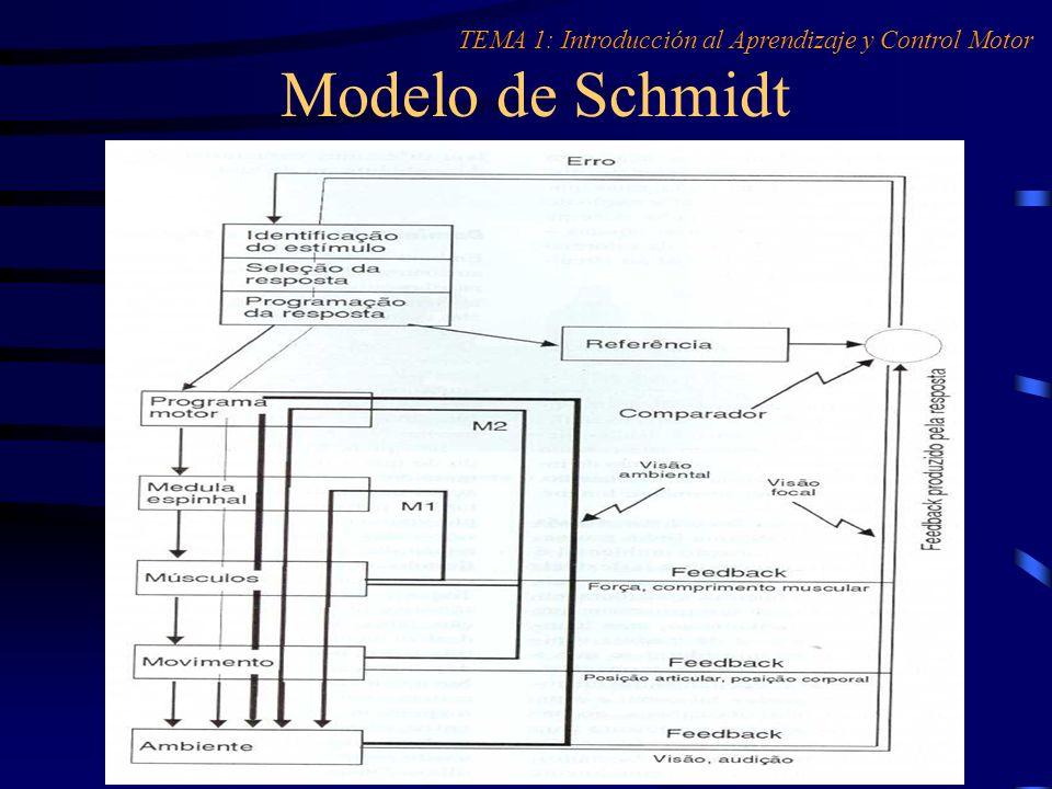 Modelo de Schmidt TEMA 1: Introducción al Aprendizaje y Control Motor