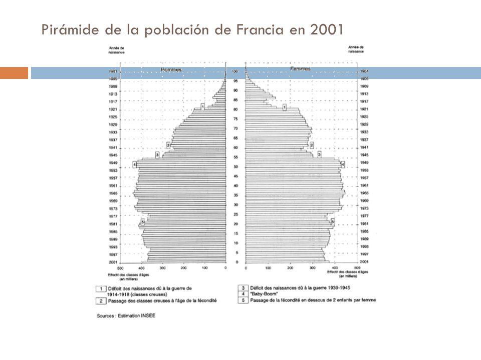 Pirámide de la población de Francia en 2001