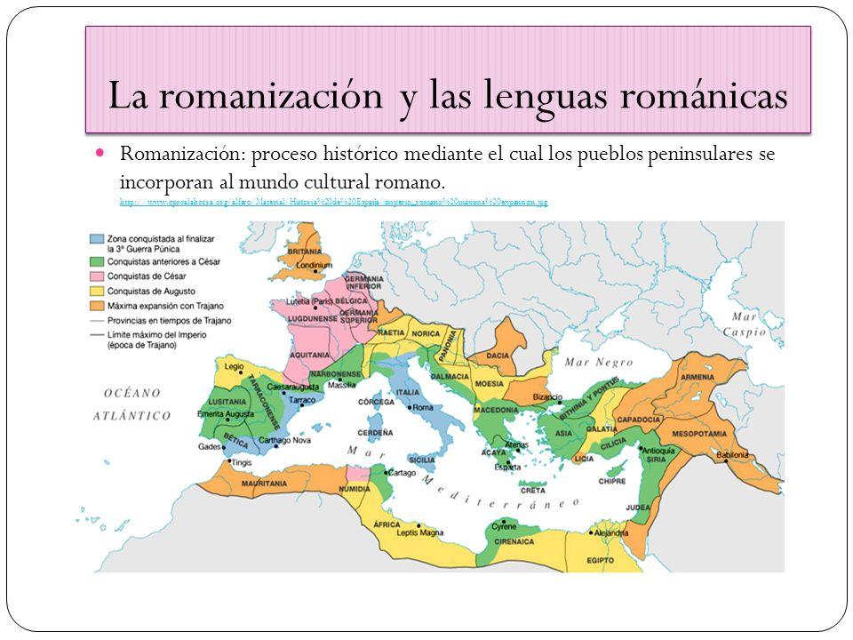 La Romanización de Hispania 1ª) 218 a.C.– 69 d. C.; 2ª) 69-212; 3ª) 212- 409.