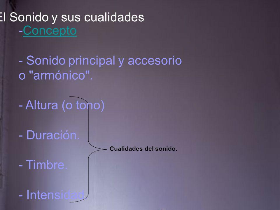 -ConceptoConcepto - Sonido principal y accesorio o armónico .