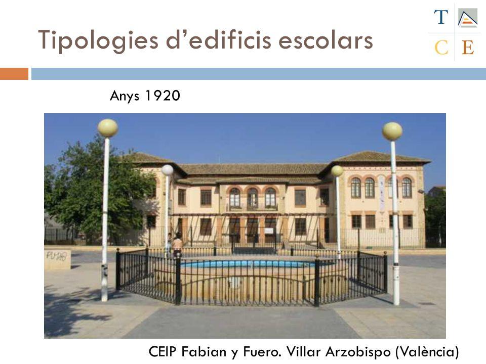 Tipologies dedificis escolars CEIP Fabian y Fuero. Villar Arzobispo (València) Anys 1920