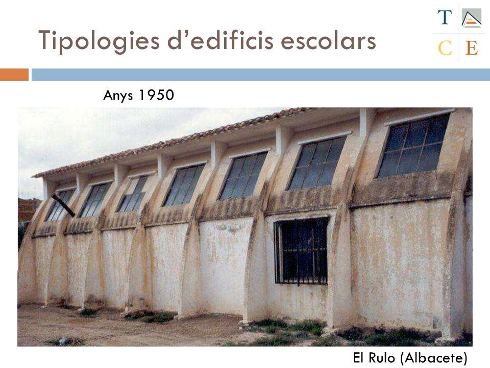 Tipologies dedificis escolars El Rulo (Albacete) Anys 1950