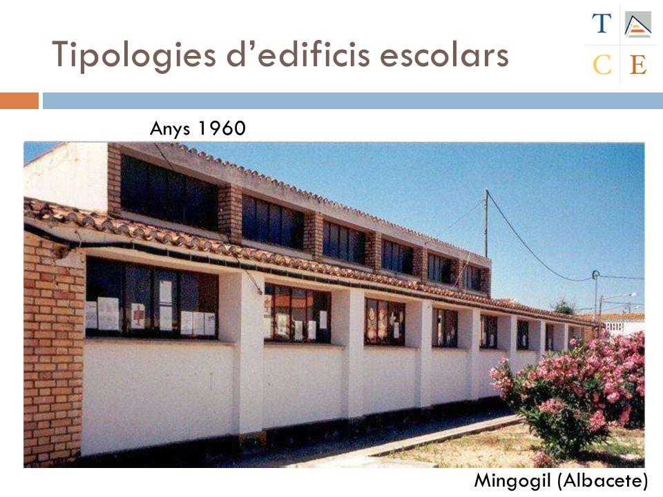 Tipologies dedificis escolars Mingogil (Albacete) Anys 1960