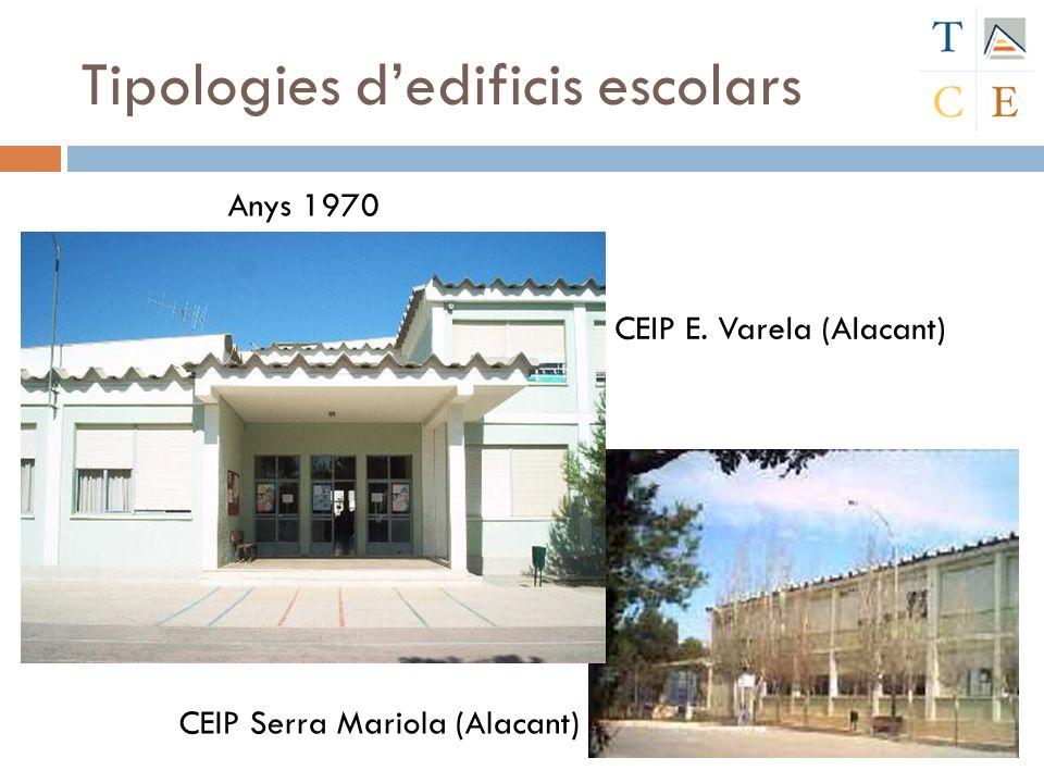 Tipologies dedificis escolars CEIP E. Varela (Alacant) CEIP Serra Mariola (Alacant) Anys 1970
