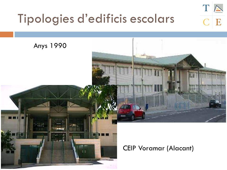 CEIP Voramar (Alacant) Anys 1990 Tipologies dedificis escolars