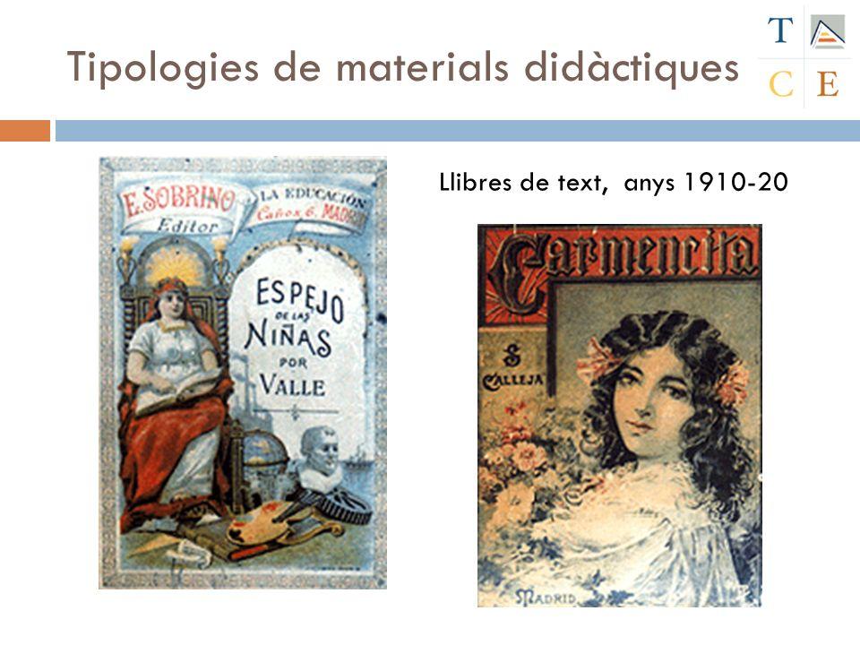 Llibres de text, anys 1910-20