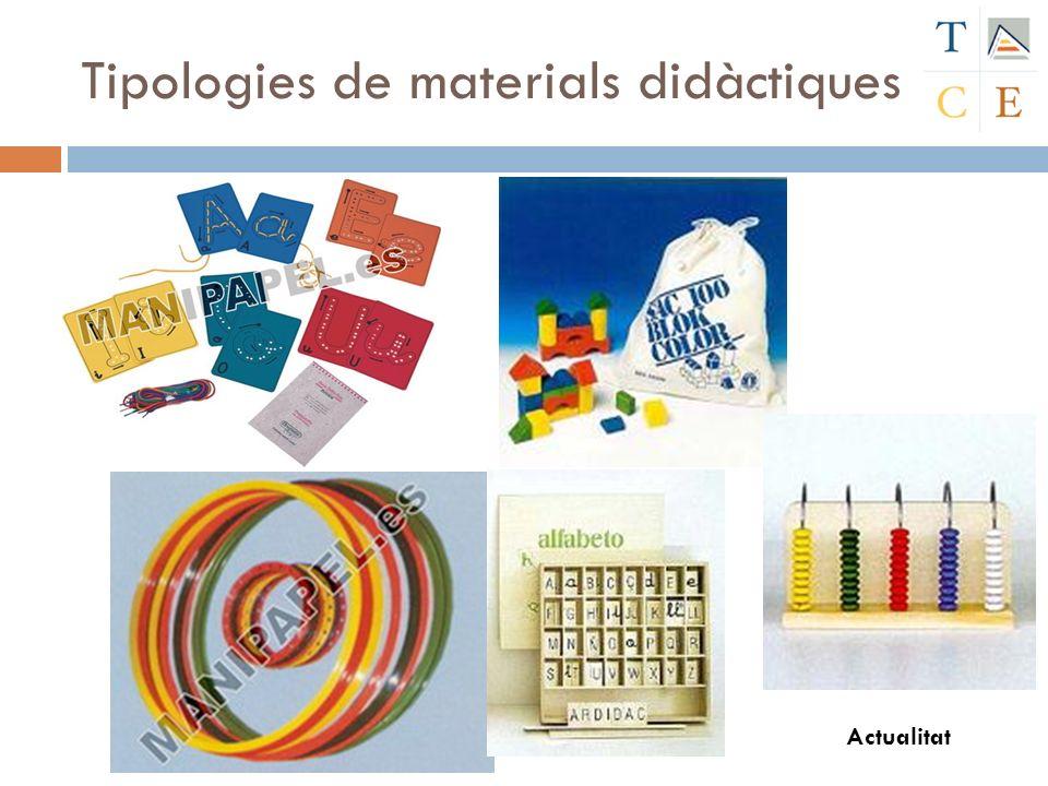 Tipologies de materials didàctiques Actualitat