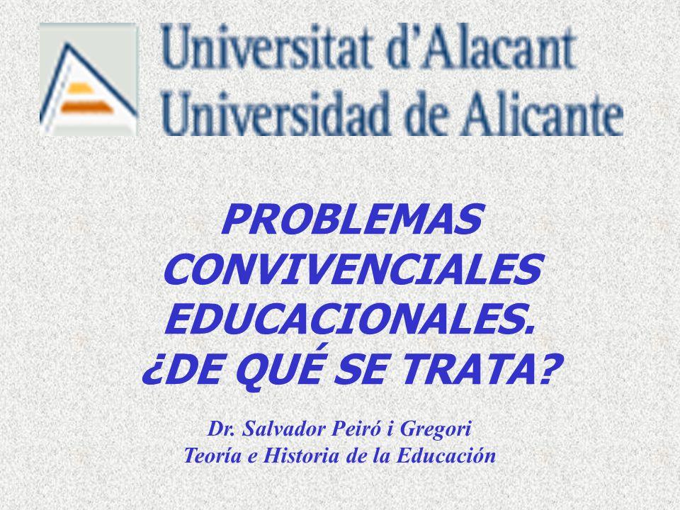 PARA HABLAR… ¿Qué experiencia sobre problemas educacionales tenéis en la memoria con relación a vuestra escolarización en la ESO?