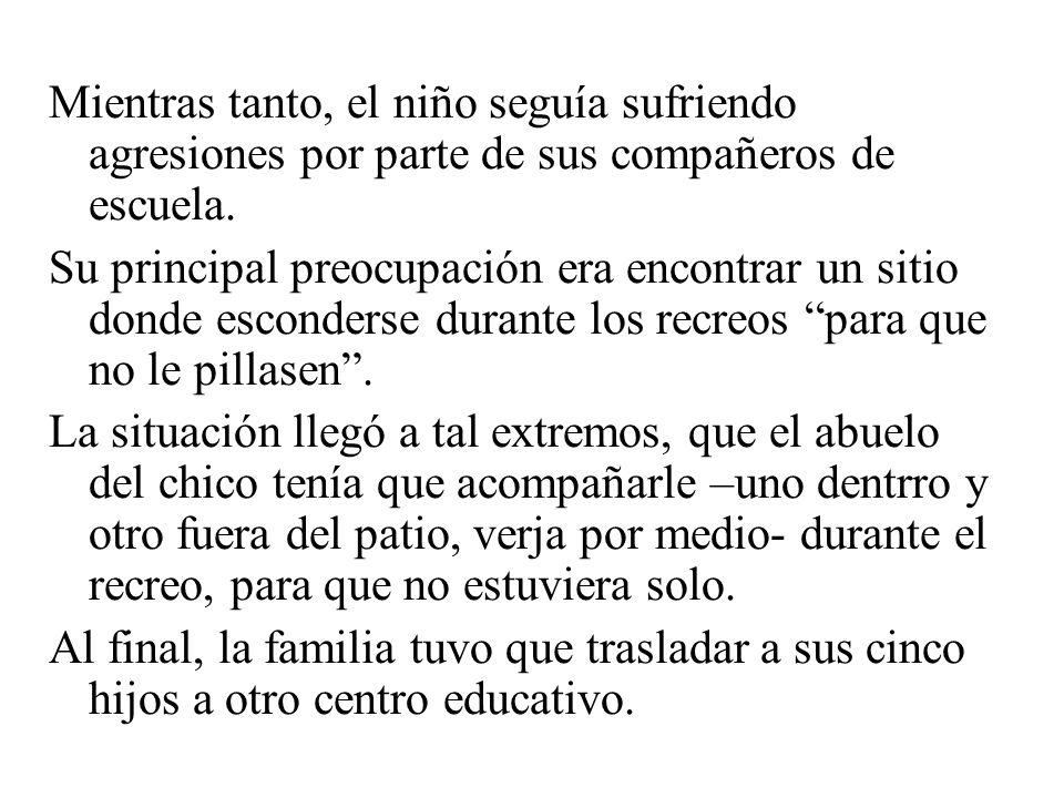 UN SUCESO UN SUCESO año 2004. J.M.N.R… …de 5º de primaria en colegio concertado de Madrid (Moratalaz), hipoacúsico, fue objeto de amenazas, insultos,