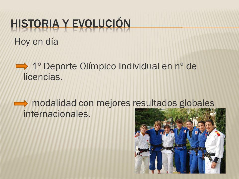 Hoy en día 1º Deporte Olímpico Individual en nº de licencias. modalidad con mejores resultados globales internacionales.
