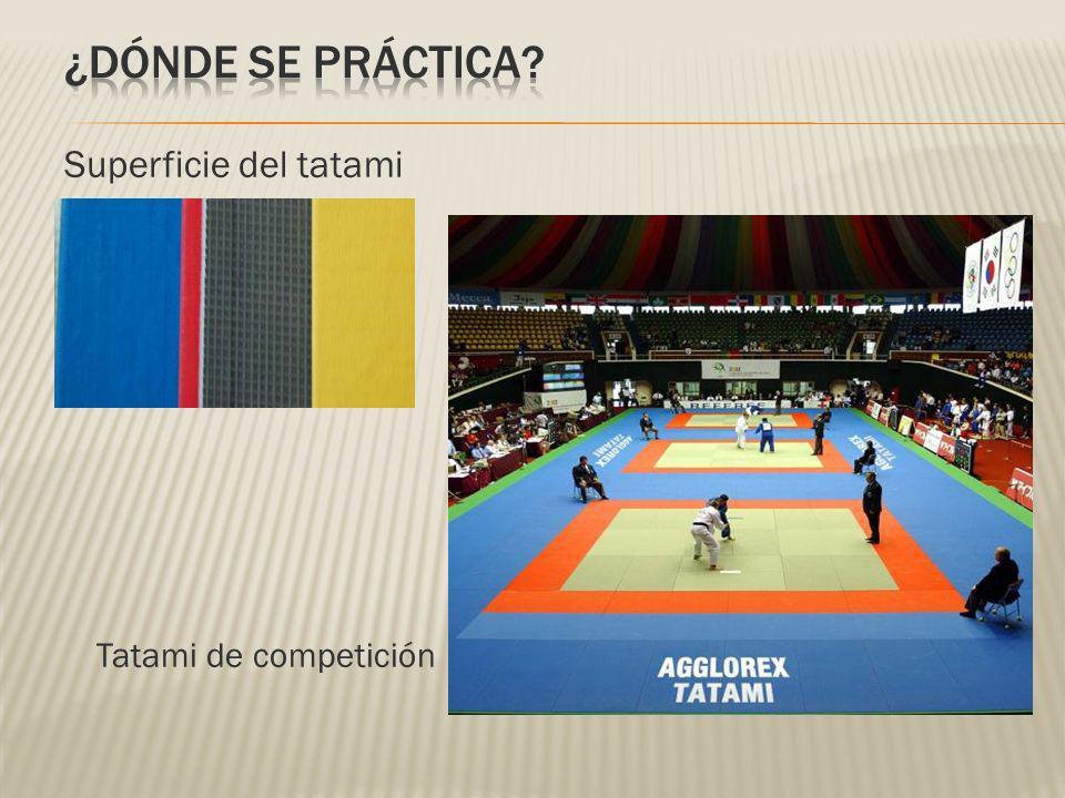 Superficie del tatami Tatami de competición