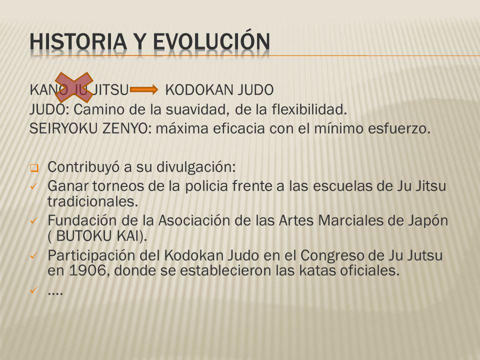 KANO JU JITSU KODOKAN JUDO JUDO: Camino de la suavidad, de la flexibilidad. SEIRYOKU ZENYO: máxima eficacia con el mínimo esfuerzo. Contribuyó a su di