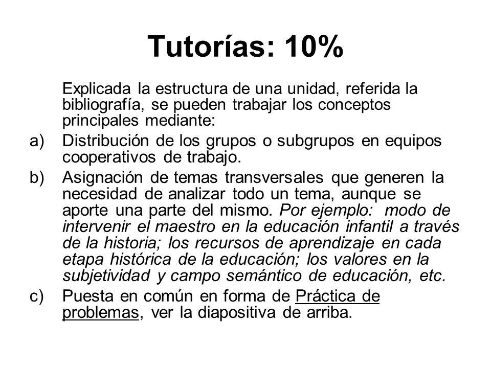 10% TRABAJO DE CAMPO = 1 punto Podría ser por: Pasar los cuestionarios.