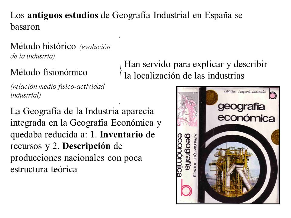 Los paisajes industriales más recientes serán los parques tecnológicos o las tecnópolis (relación entre infraestructuras, nuevas tecnologías, Universidades, empresas y comercio a escala mundial).