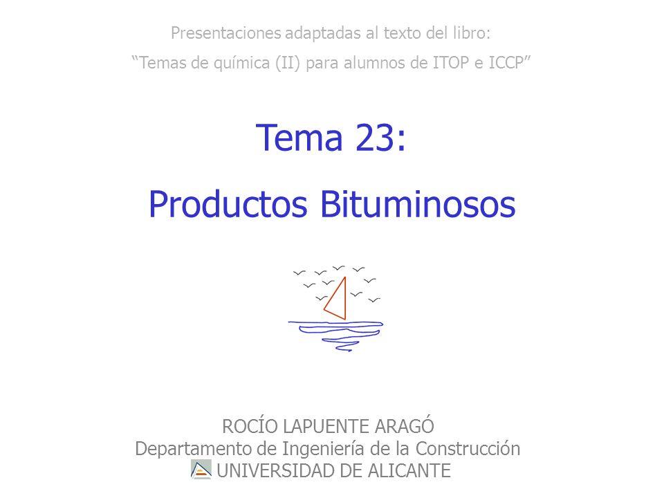 ROCÍO LAPUENTE ARAGÓ- Departamento de Ingeniería de la Construcción Presentaciones adaptadas al texto del libro: Temas de química (II) para alumnos de