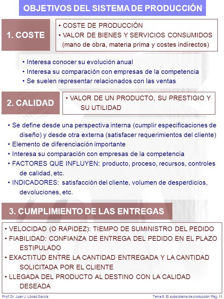 Tema 5: El subsistema de producción.Pág. 11Prof. Dr.