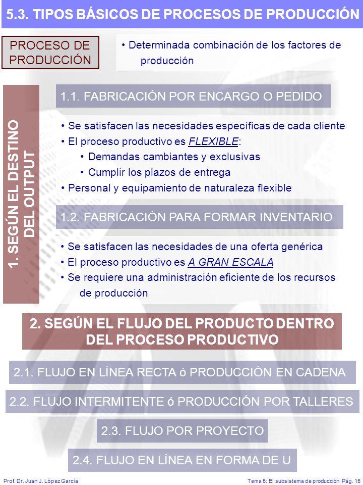 Tema 5: El subsistema de producción.Pág. 15Prof. Dr.