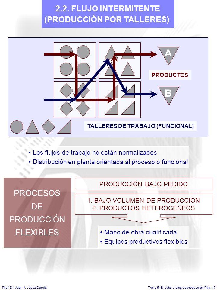 Tema 5: El subsistema de producción.Pág. 17Prof. Dr.