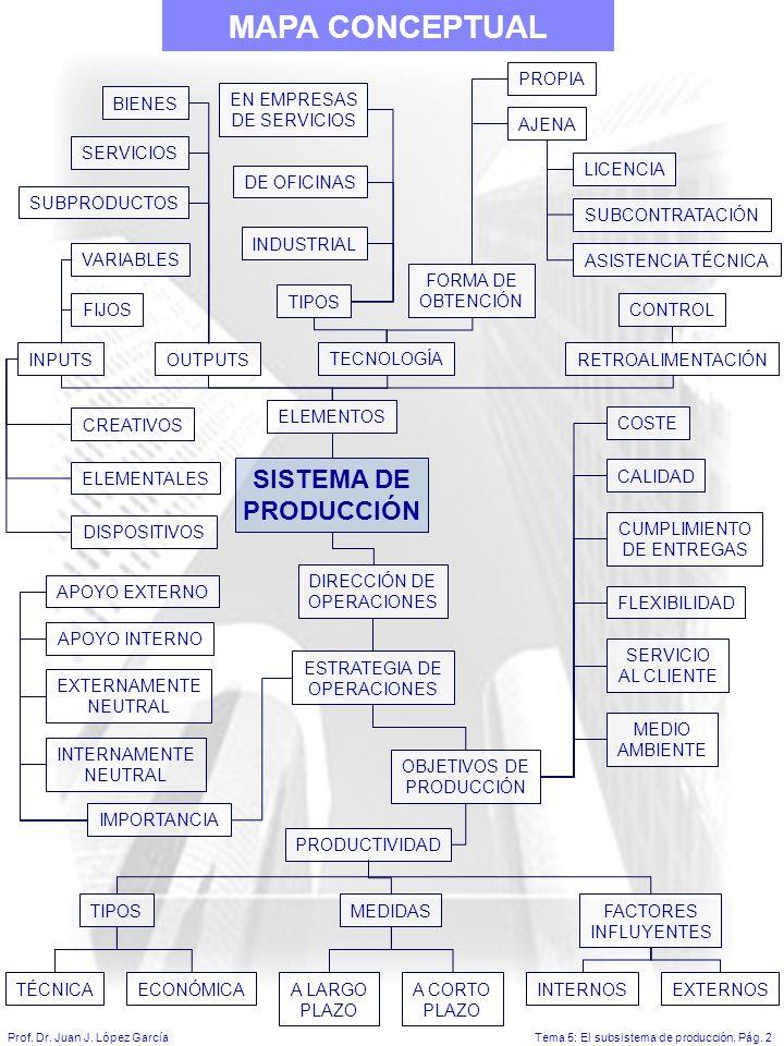 Tema 5: El subsistema de producción.Pág. 2Prof. Dr.