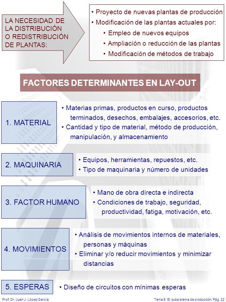 Tema 5: El subsistema de producción.Pág. 22Prof. Dr.