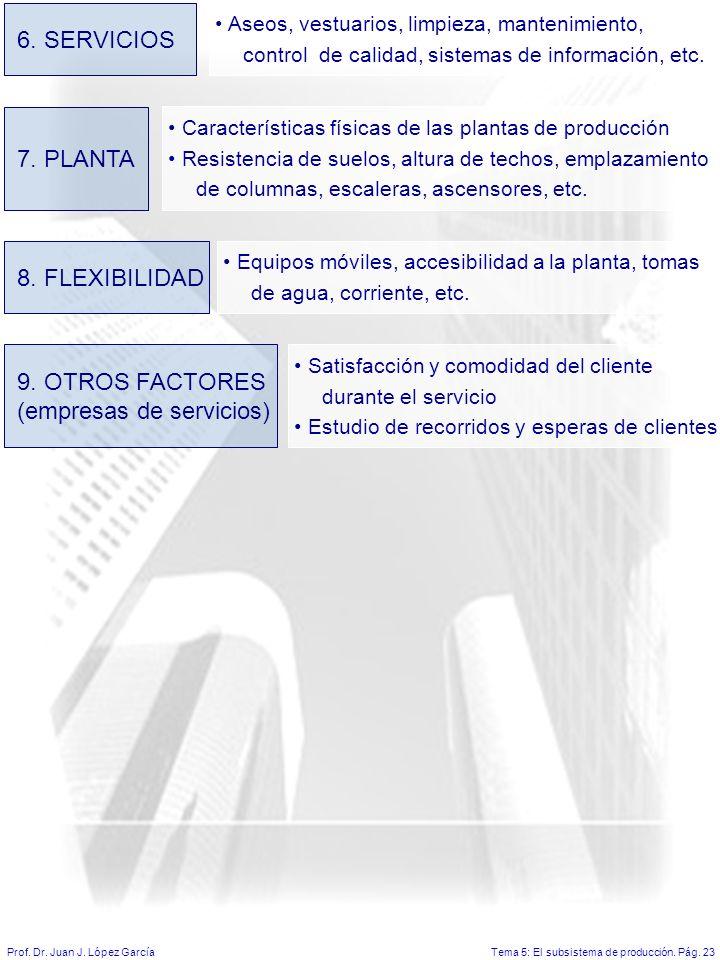 Tema 5: El subsistema de producción.Pág. 23Prof. Dr.