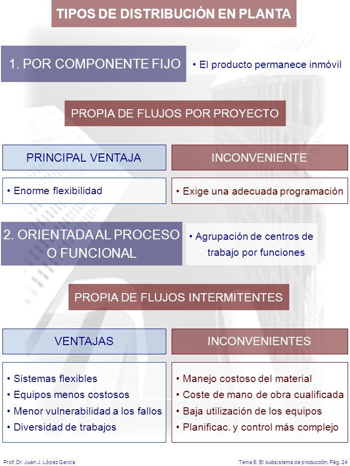 Tema 5: El subsistema de producción.Pág. 24Prof. Dr.