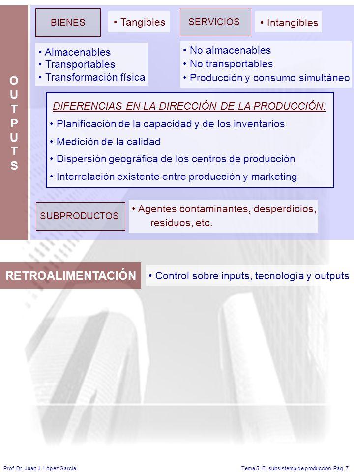Tema 5: El subsistema de producción.Pág. 7Prof. Dr.