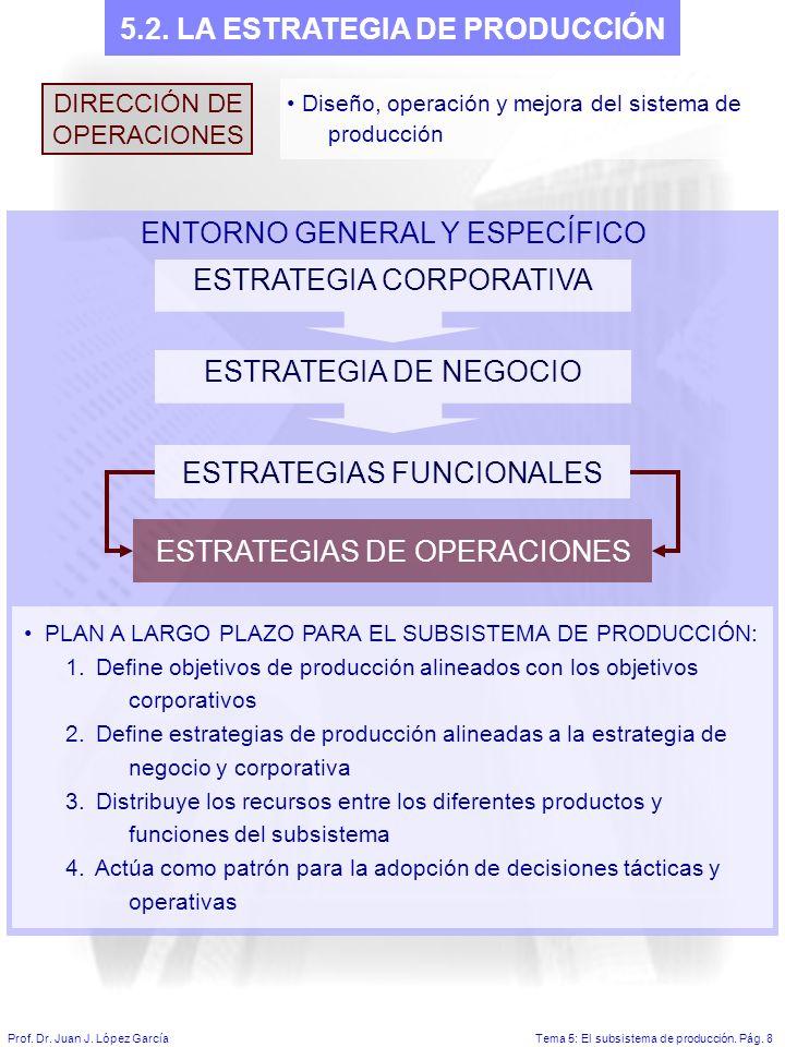 Tema 5: El subsistema de producción.Pág. 8Prof. Dr.