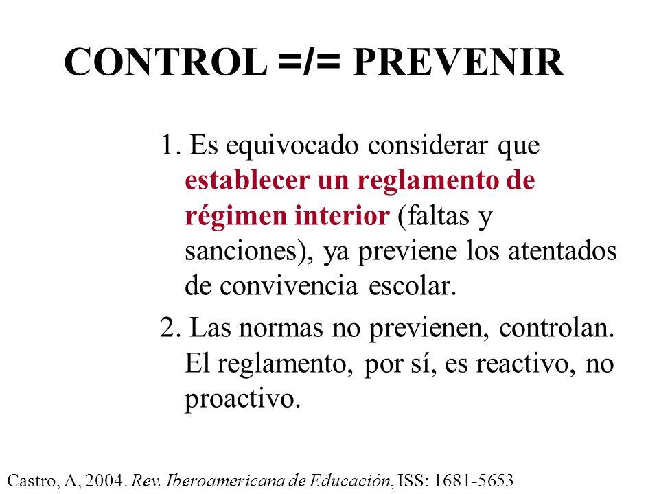 ESTRATEGIAS PREVENTIVAS. a) Establecer normas claras y sencillas, con la participación de cada sector y mediante el consenso. b) Tener en cuenta los d