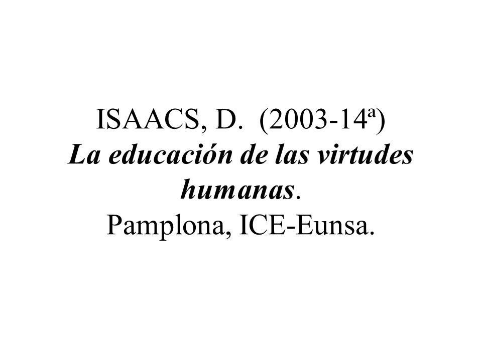 GAECH, P. T. (1993) Las virtudes. Pamplona, Eunsa.