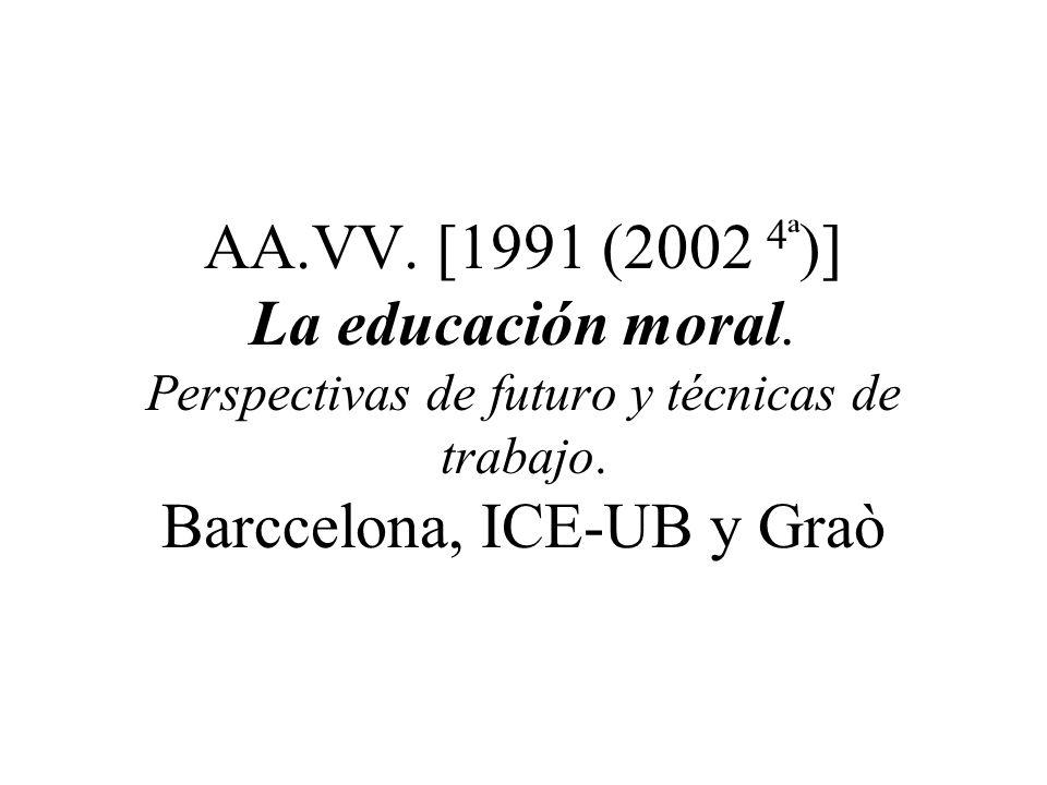AA. VV. (2002) Educación ética y ciudadanía. Actas congreso internacional. Madrid, UNED