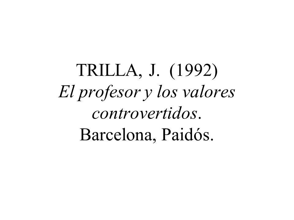 MARTINEZ, M. (1998) El contrato moral del profesorado. Bilbao, Descleé de Brower.