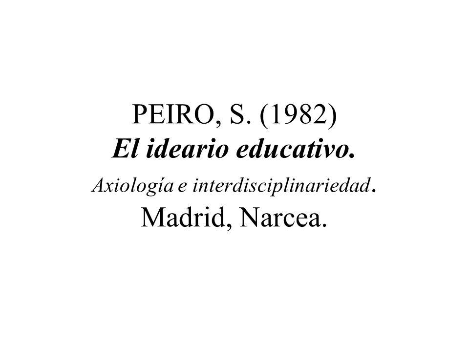 AA. VV. (1979) Educación y valores. Madrid, IEPS