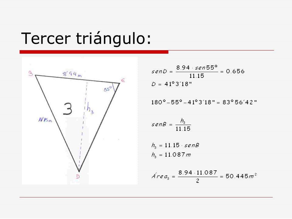 Tercer triángulo: