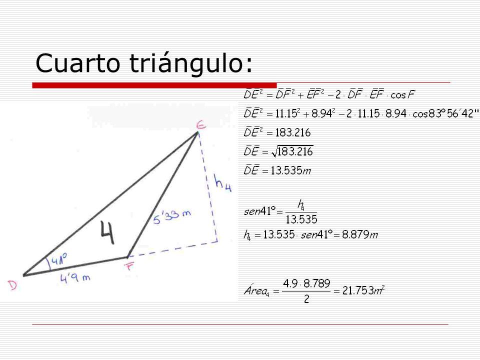 Cuarto triángulo: