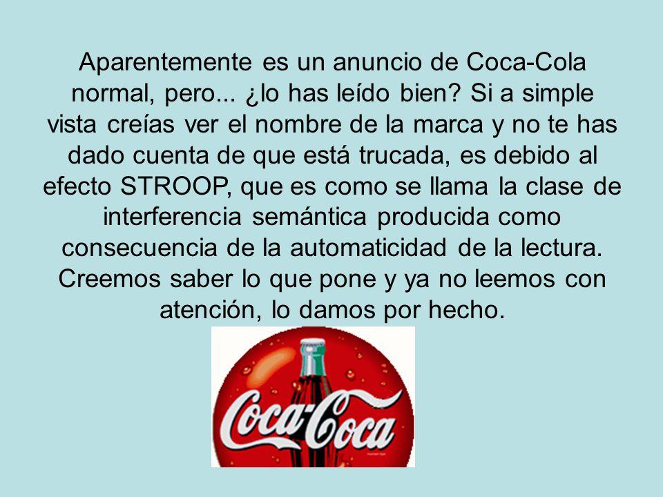 Aparentemente es un anuncio de Coca-Cola normal, pero... ¿lo has leído bien? Si a simple vista creías ver el nombre de la marca y no te has dado cuent