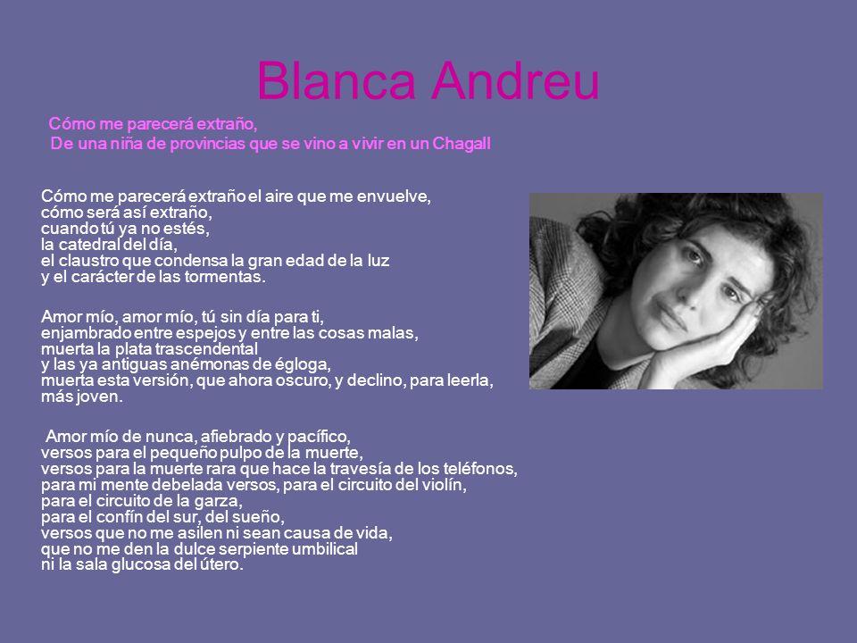 Blanca Andreu Cómo me parecerá extraño, De una niña de provincias que se vino a vivir en un Chagall Cómo me parecerá extraño el aire que me envuelve,