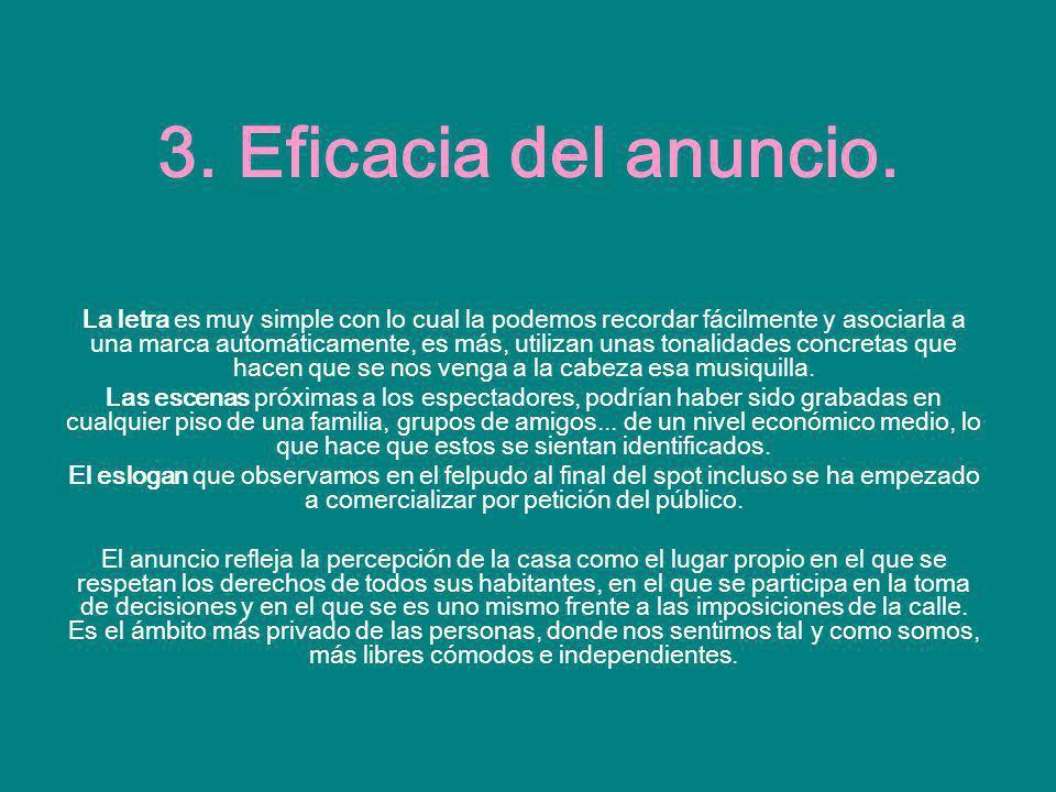 3. Eficacia del anuncio.