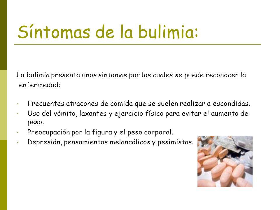 La bulimia presenta unos síntomas por los cuales se puede reconocer la enfermedad: Frecuentes atracones de comida que se suelen realizar a escondidas.