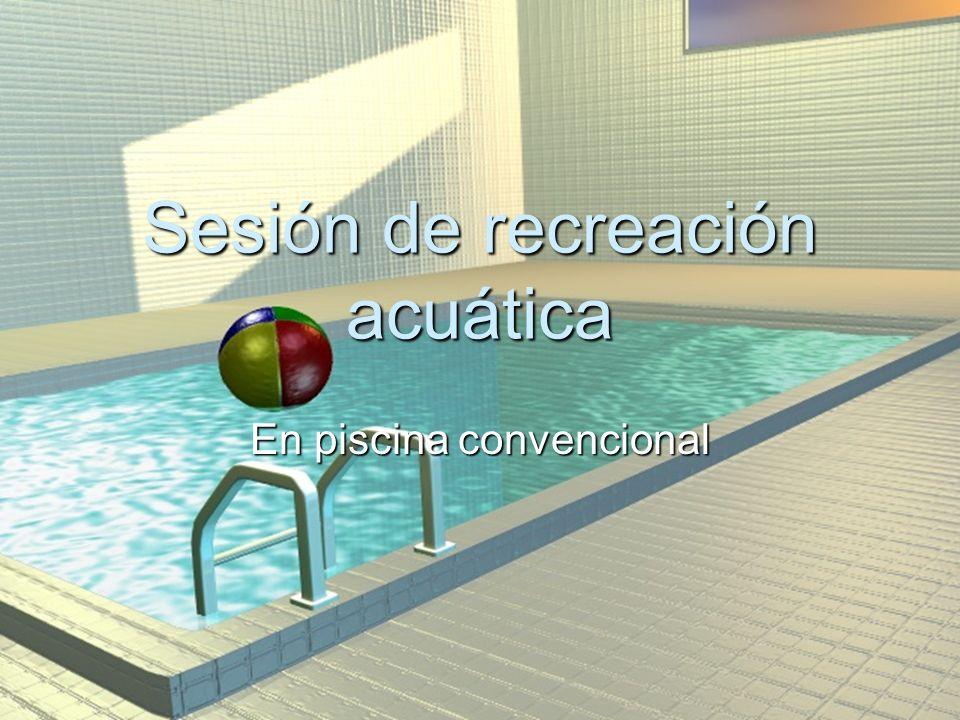 Sesión de recreación acuática En piscina convencional