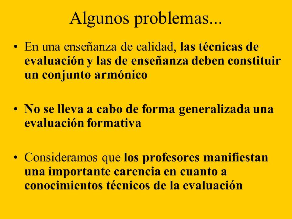 Algunos problemas...